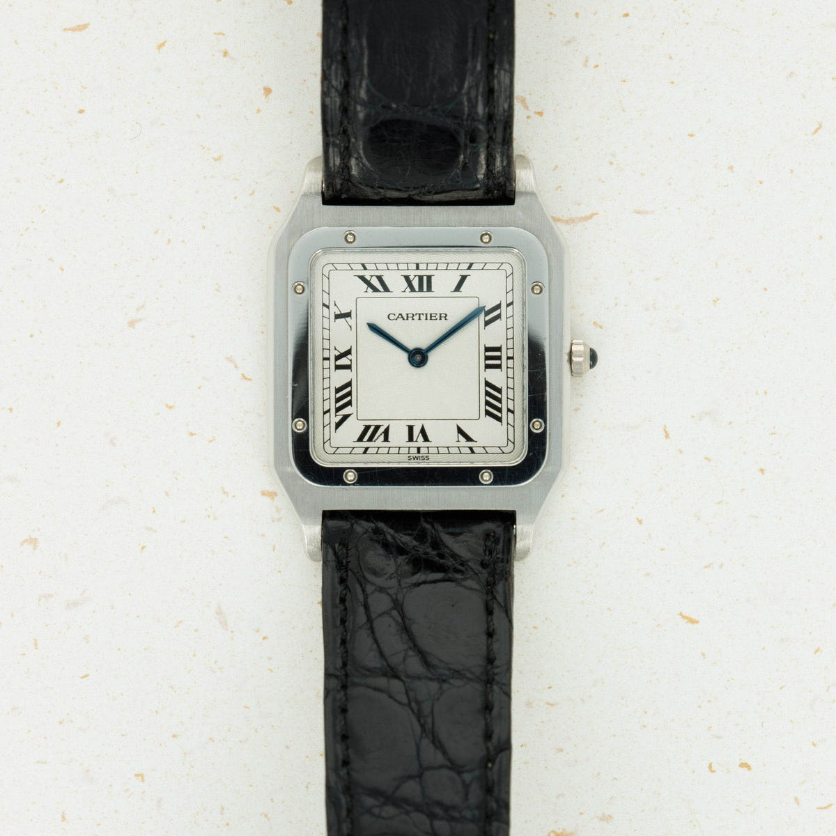 Thumbnail for Cartier Platinum Santos Mechanical Wind 1575-1