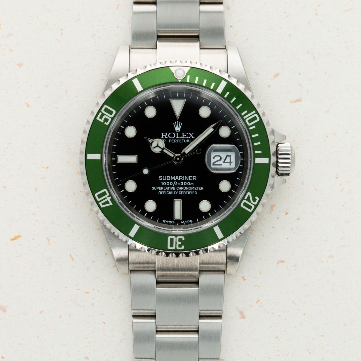 Thumbnail for Rolex Submariner Green Anniversary Flat 4 Kermit 16610LV
