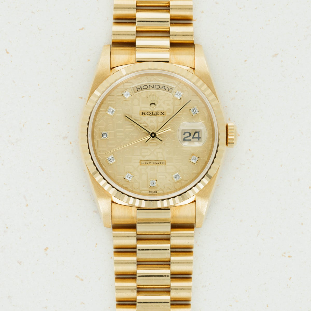 Thumbnail for Rolex Yellow Gold Day-Date Jubilee Diamond 18238