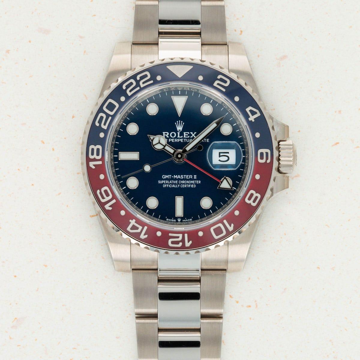 Thumbnail for Rolex White Gold GMT-Master II 126719BLRO