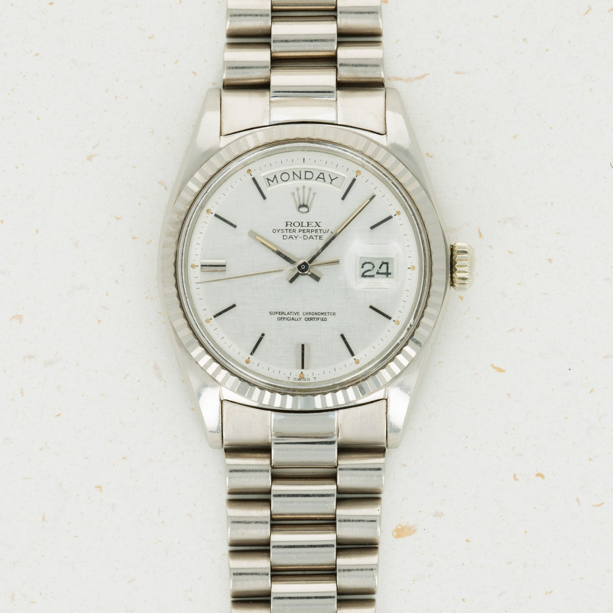 Thumbnail for Rolex 18k White Gold Day-Date 1803