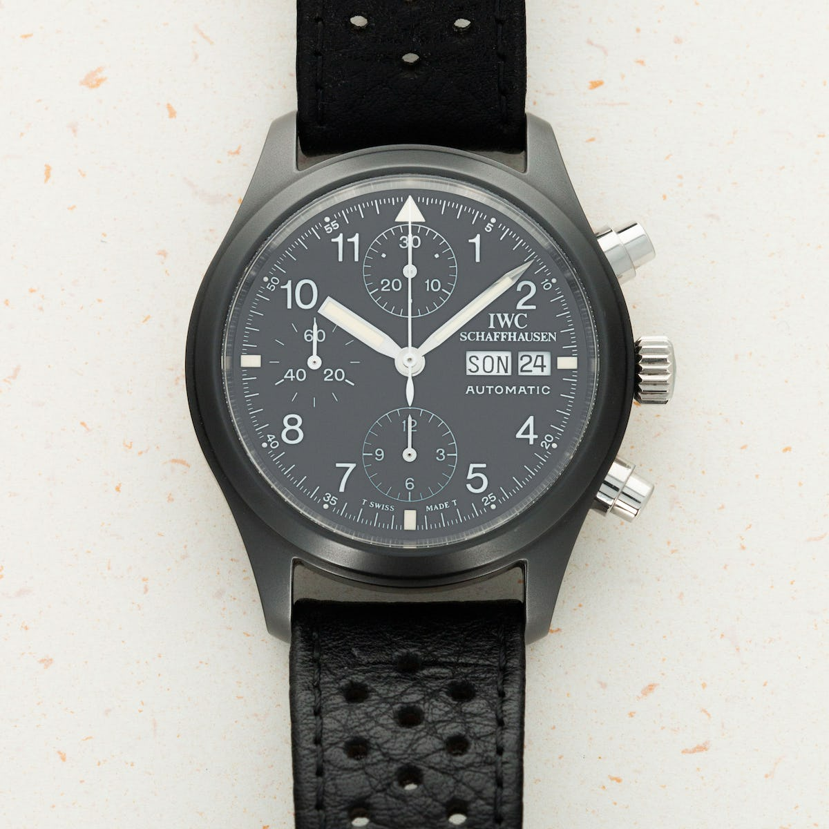 Thumbnail for IWC Ceramic Flieger Chronograph 3705